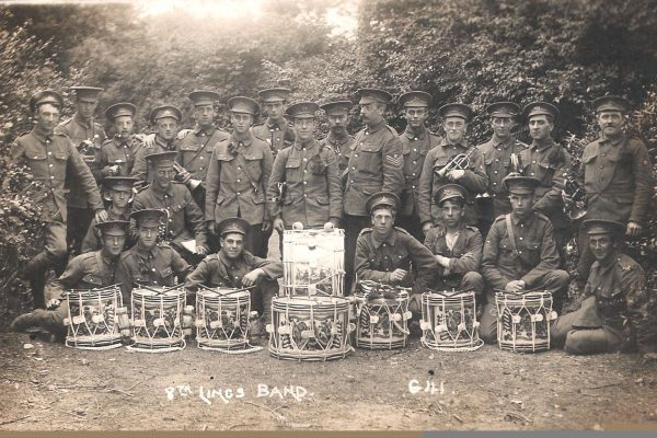 Charles william Clarke 5th from left back row 5th Lincs band
