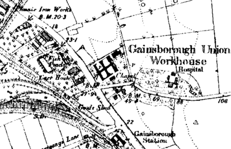 Gainsborough Workhouse Site 1887