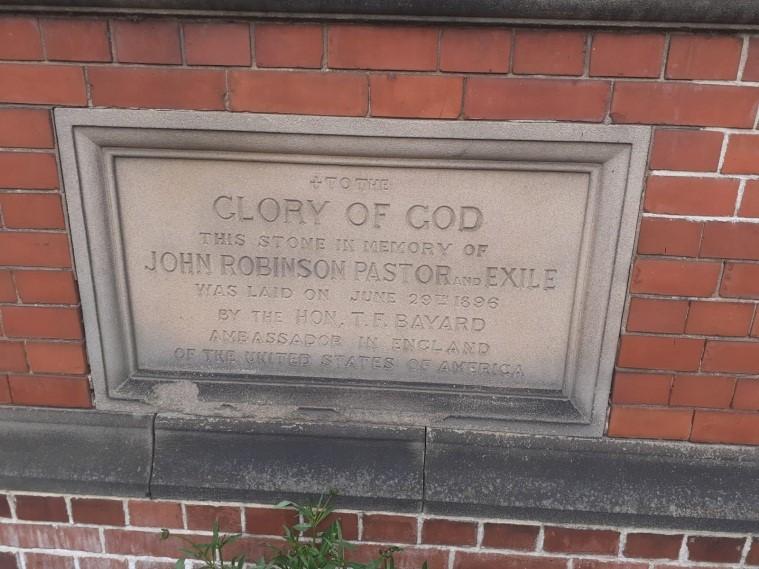 John Robinson Memorial Church Plaque